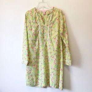 Lilly Pulitzer Green Floral Tunic Dress Small
